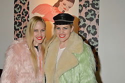 SAMANTHA BECKERMAN and CAILLIANNE BECKERMAN at the Future Contemporaries Party in association with Coach at The Serpentine Sackler Gallery, West Carriage Drive, Kensington Gardens, London on 21st February 2015.