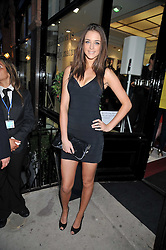 VIOLET BUDD (also known as Lauren Budd) at a party to launch the new Belvedere Black Raspberry Maceration held at the Belvedere Black Raspberry Pop-up Store, 100 Mount Street, London W1 on 6th May 2009.