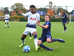 November 6, 2018 - London, England, United Kingdom - Enfield, UK. 06 November, 2018.L-R J'Neil Lloyd Bennett of Tottenham Hotspur and Silvanus Vos Dennis of PSV Eindhoven.during UEFA Youth League match between Tottenham Hotspur and PSV Eindhoven at Hotspur Way, Enfield. (Credit Image: © Action Foto Sport/NurPhoto via ZUMA Press)