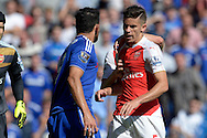 Gabriel of Arsenal fights with Diego Costa of Chelsea and gets sent off. Barclays Premier League match, Chelsea v Arsenal at Stamford Bridge in London on Saturday 19th September 2015.<br /> pic by John Patrick Fletcher, Andrew Orchard sports photography.