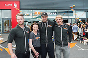 13/09/2015  Niall Breslin, Bessie,  at the official opening of Hector's the body works  a gym in Galway city with the trainers Damien Walsh, Jessica Keniston and Bernard Carberry. Photo:Andrew Downes, xposure<br /> <br /> The Body Works Galway is Galway's newest fitness studio. We are located adjacent to Parkmore in Briarhill Business park about a seven minute walk from the Parkmore Industrial Estate and Briarhill Shopping Centre.<br /> <br /> The fitness studio consists of a spinning studio at ground floor and a fitness studio at first floor where we provide classes in Kettlebells, Pilates, Yoga,TRX, Body Pump and Circuits . We have 16 spinning bikes (cardio machines) in our spinning studio.