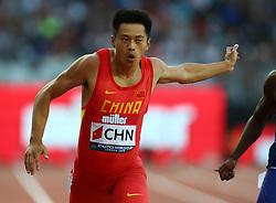 July 14, 2018 - London, United Kingdom - Zhenye Xie of China (WINNER)  compete in the 200m Men during Athletics World Cup London 2018 at London Stadium, London, on 14 July 2018  (Credit Image: © Action Foto Sport/NurPhoto via ZUMA Press)