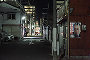 night street view in a old residential neighborhood Yokosuka Japan