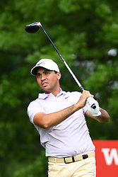 May 2, 2019 - Charlotte, NC, U.S. - CHARLOTTE, NC - MAY 02:  Jason Day plays his shot from the 16th tee in round one of the Wells Fargo Championship on March 02, 2019 at Quail Hollow Club in Charlotte,NC. (Photo by Dannie Walls/Icon Sportswire) (Credit Image: © Dannie Walls/Icon SMI via ZUMA Press)