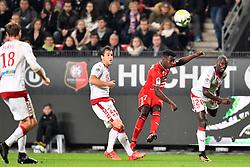 November 3, 2017 - Rennes, France - 17 Faitout Maouassa (ren) - 20 Youssouf Sabaly (bor) - 23 Valentin Vada  (Credit Image: © Panoramic via ZUMA Press)