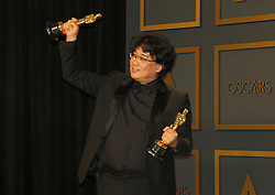 Bong Joon-ho at the 92nd Academy Awards - Press Room held at the Dolby Theatre in Hollywood, USA on February 9, 2020.