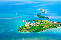 Boca Chita Key and Ragged Keys, Biscayne National Park, aerial picture off Miami, Florida, USA, Caribbean Sea, Atlantic Ocean