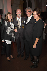 Left to right, CHERRYL COHEN, CHRISTOPHER LE BRUN, SIR DAVID TANG and TRACEY EMIN at a dinner to celebrate Sir David Tang's 20 year patronage of the Royal Academy of Arts and the start of building work on the Burlington Gardens wing of the Royal Academy held at 6 Burlington Gardens, London on 26th October 2015.
