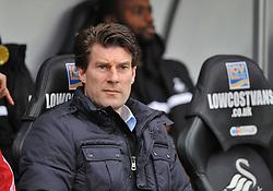 Swansea City Manager, Michael Laudrup - Photo mandatory by-line: Alex James/JMP - Tel: Mobile: 07966 386802 01/01/2014 - SPORT - FOOTBALL - Liberty Stadium - Swansea - Swansea City v Manchester City - Barclays Premier League