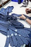 Lyon, Atelier Hermès, sewing ties.