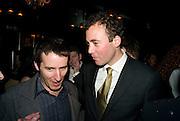 TRAVIS KATZ; ( MYSPACE) WILL LEWIS. Book launch for Citizen by Charlie Brooks. Tramp. London. 1 April  2009