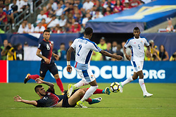 July 19, 2017 - Philadelphia, Pennsylvania, U.S - Costa Rica midfielder ULISES SEGURA (19) slides in to steal the ball from Panama defender MICHAEL MURILLO (2) during CONCACAF Gold Cup 2017 action at Lincoln Financial Field in Philadelphia, PA.  Costa Rica defeats Panama 1 to 0. (Credit Image: © Mark Smith via ZUMA Wire)