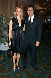 TV sports presenter GABBY LOGAN and her husband rugby player KENNY LOGAN at the annual SPARKS Winter Ball in the presence of HRH Princess Michael of Kent held at the London Hilton Hotel, Park Lane, London W1 on 15th December 2005.<br /><br /><br />NON EXCLUSIVE - WORLD RIGHTS