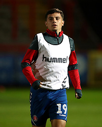 Charlton Athletic's Albie Morgan warms up prior to the match
