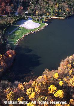 PA State Parks, Pine Grove Furnace, Lake, Boats and Fall Foliage, Cumberland Co., PA