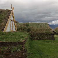 The icelandic turfhouses of Glaumbær are situated in Skagafjörður, in northern Island.