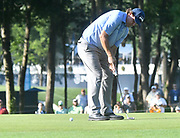 ST. LOUIS, MO - AUGUST 09: Phil Mickelson putts on the #10 green during the first round of the PGA Championship on August 09, 2018, at Bellerive Country Club, St. Louis, MO.  (Photo by Keith Gillett/Icon Sportswire)