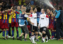 28-05-2011 VOETBAL: CHAMPIONS LEAGUE FINAL FC BARCELONA - MANCHESTER UNITED: LONDON<br /> Giggs und Rooney and the celebrate Barcelona<br /> ***NETHERLANDS ONLY***<br /> ©2011- FotoHoogendoorn.nl/EXPA/ InsideFoto/Paolo Nucci