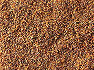 Ground Nutmeg powder - stock photos