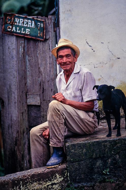 Portrait of farmer, Boyaca, Colombia