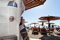 Spion på stranda i Sharm-el-Sheik