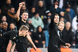 December 13, 2018 - Istanbul, Turkey - 181213 Marcus Antonsson and Arn—r Ingvi Traustason of MalmÅ¡ FF celebrates after 0-1 during the Europa league match between Besiktas and MalmÅ¡ FF on December 13, 2018 in Istanbul..Photo: Petter Arvidson / BILDBYRN / kod PA / 92175 (Credit Image: © Petter Arvidson/Bildbyran via ZUMA Press)