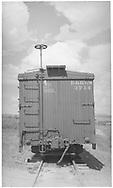 B-end detail of box car #3714.<br /> D&RGW