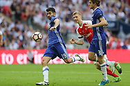 Chelsea's Diego Costa(19) shoots at goal misses the target during the The FA Cup final match between Arsenal and Chelsea at Wembley Stadium, London, England on 27 May 2017. Photo by Shane Healey.