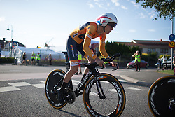 Christine Majerus (LUX) of Boels-Dolmans Cycling Team accelerates in the first meters of the Crescent Vargarda - a 42.5 km team time trial, starting and finishing in Vargarda on August 11, 2017, in Vastra Gotaland, Sweden. (Photo by Balint Hamvas/Velofocus.com)