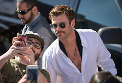 Chris Hemsworth is seen at 'Jimmy Kimmel Live' in Los Angeles, California. NON EXCLUSIVE April 25, 2018. 25 Apr 2018 Pictured: Chris Hemsworth. Photo credit: RB/Bauergriffin.com / MEGA TheMegaAgency.com +1 888 505 6342