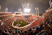 Jason Aldean performing at the Great American Ball Park in Cincinnati, Ohio on July 19, 2014 on the Burn It Down Tour.