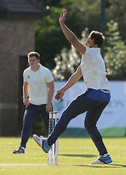 Marco Mama during an exhibition cricket game with Bishopston Cricket Club  - Photo mandatory by-line: Dougie Allward/JMP - Mobile: 07966 386802 - 29/07/2015 - SPORT - Cricket - Bristol - Westbury Fields - Bishopston CC v Bristol Rugby - Exhibition Game