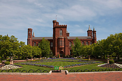 Washington DC: Smithsonian headquarters The Castle on the Mall. Photo copyright Lee Foster.  Photo # washdc102691
