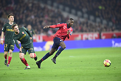 March 15, 2019 - Lille, France, FRANCE - Nicolas Pepe  (Credit Image: © Panoramic via ZUMA Press)