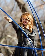 NEW YORK, NY, USA, Nov. 28, 2013. Debby Ryan rides a float in the 87th Annual Macy's Thanksgiving Day Parade .