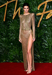 Kendall Jenner attending the Fashion Awards in association with Swarovski held at the Royal Albert Hall, Kensington Gore, London.