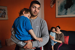 "Julius Mika, is seen with his sons Julius, 5, Roland, 3, and his partner Jitka Dzurková, in their home in Ostrava, Czech Republic on March 4, 2012.The elder Mika was one of 18 Roma children who were represented in the D.H. and Others v. Czech Republic case, the first challenge to systemic racial segregation in education to reach the European Court of Human Rights. When this case was first brought in 2000, Roma children in the Czech Republic were 27 times more likely to be placed in ""special schools,"" intended for the mentally disabled, than non-Roma children. In 2007, the Grand Chamber of the  European Court of Human Rights ruled that this pattern of segregation violated nondiscrimination protections in the European Convention on Human Rights. Despite this landmark decision, little change has occurred: the ""special schools"" have been renamed but follow the same substandard curriculum and Roma continue to be assigned to these schools in disproportionate numbers. The process of integration has barely begun."