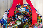 A wreath formed from pages of old books by Rebecca Hanson displayed at her home in Fort Worth on Wednesday, March 13, 2013. (Cooper Neill/The Dallas Morning News)