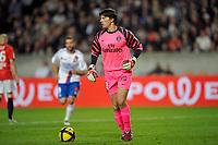 FOOTBALL - FRENCH CHAMPIONSHIP 2010/2011 - L1 - PARIS SAINT GERMAIN v OLYMPIQUE LYONNAIS  - 17/04/2011 - PHOTO GUY JEFFROY / DPPI - GREGORY COUPET (PSG)