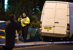 """©London News pictures... 17/11/2010. One person has died today (Wed) and a number of people have been arrested in a """"serious incident"""" in Sunningdale, Berkshire."""