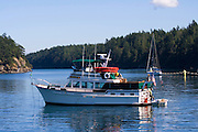 Sailboats, Echo Bay,  Sucia State Park, San Juan Islands, Washington State