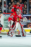 KELOWNA, BC - FEBRUARY 8: Joel Hofer #30 of the Portland Winterhawks defends the net against the Kelowna Rockets at Prospera Place on February 8, 2020 in Kelowna, Canada. Hofer was selected in the 2018 NHL entry draft by the St. Louis Blues and is a IIHF World Junior Championship gold medalist. (Photo by Marissa Baecker/Shoot the Breeze)