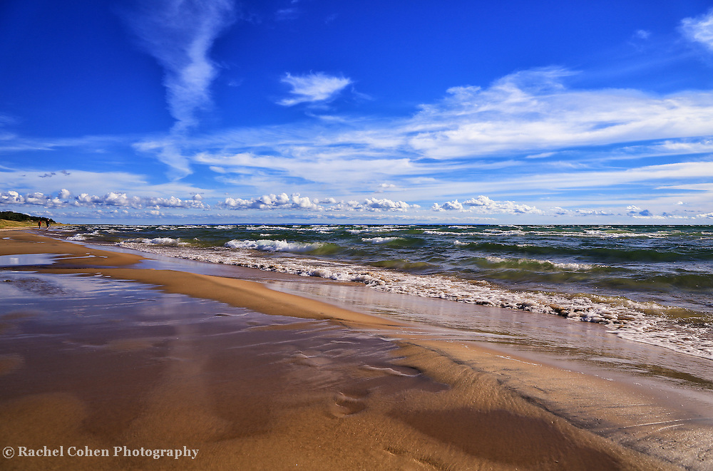 """""""Beach Combing""""<br /> <br /> Enjoy a walk along beautiful Lake Michigan on the southern part of the Upper Peninsula!!<br /> <br /> The Great Lakes by Rachel Cohen"""