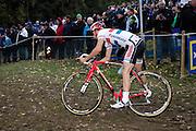 Friday 1 November 2013: Ian Field descends during the Koppenbergcross 2013 elite men's race. Copyright 2013 Peter Horrell