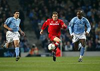 Fotball, 30. november 2003, Premier League, Manchester City - Middlesbrough 0-1,   Trevor Sinclair, Manchester City og Juninho, Middlesbrough