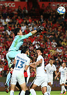 NONTHABURI, THAILAND - JULY 09: Siwarak of Buriram United attempting a save during the second half of the Thai League: SCG Muangthong United vs Buriram United at SCG Stadium, Nonthaburi, Thailand on July 09, 2017.<br /> .<br /> .<br /> .<br /> (Photo by: Naratip Golf Srisupab/SEALs Sports Images)<br /> .<br /> Any image use must include a mandatory credit line adjacent to the content which should read: Naratip Golf Srisupab/SEALs Sports Images
