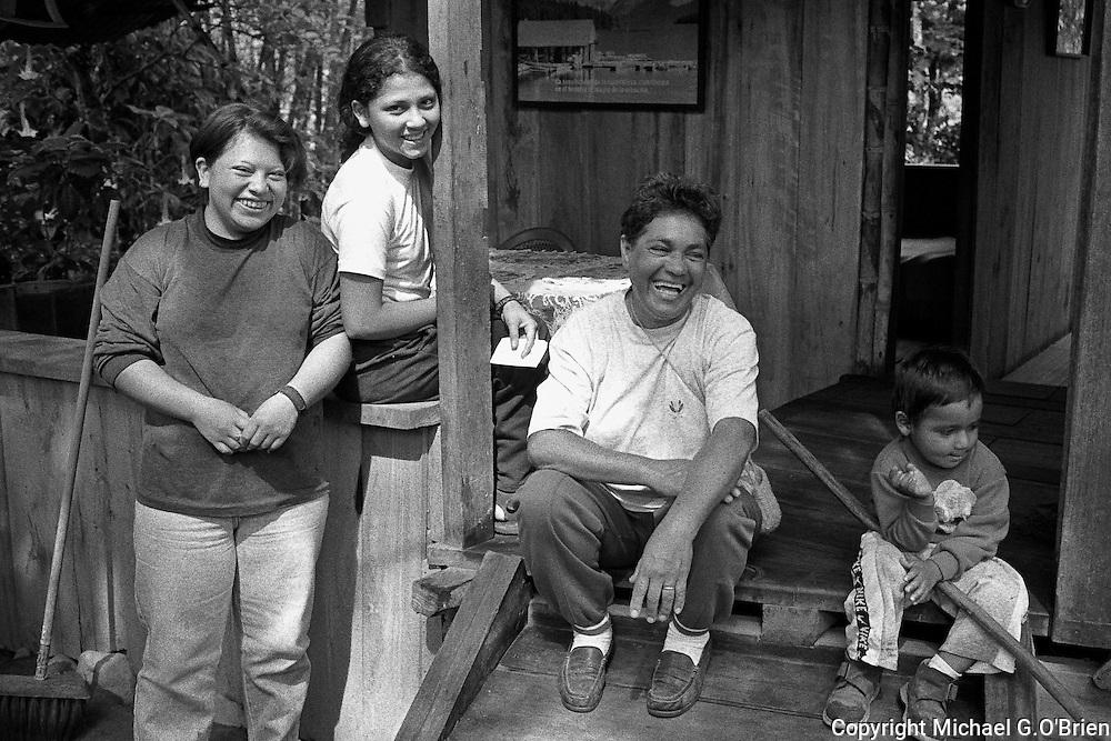 Family of Cecelia Perez at Casa de Cecilia, Mindo, Ecuador