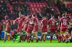 Scarlets react at full time  - Mandatory by-line: Dougie Allward/JMP - 02/11/2019 - RUGBY - Parc y Scarlets - Llanelli, Wales - Scarlets v Toyota Cheetahs - Guinness PRO14