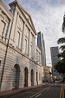 Rear of the Victoria Theatre in Singapore.