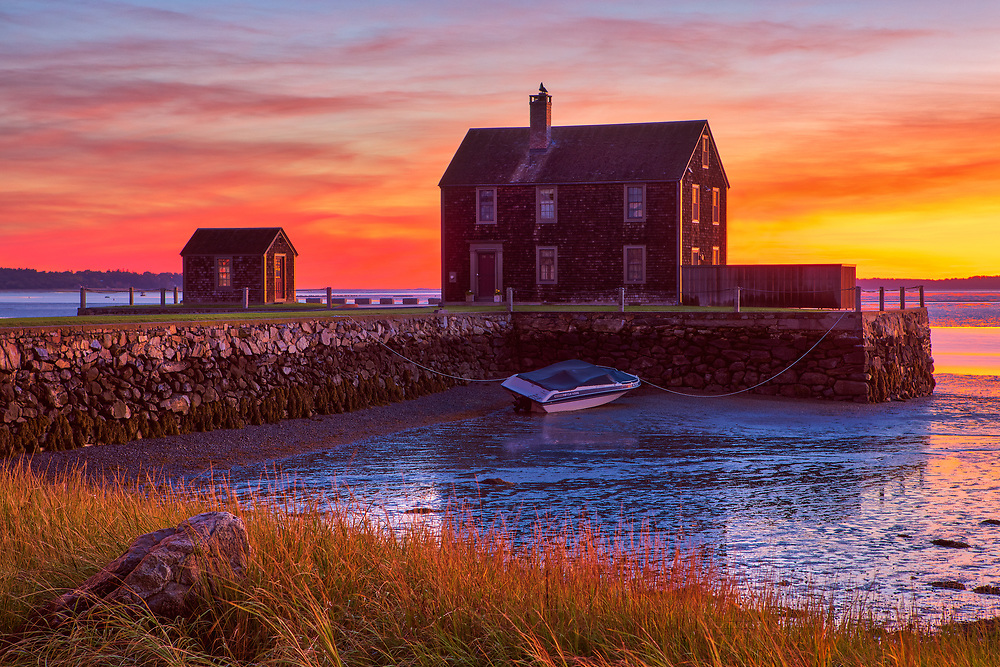 New England Kingston Bay sunrise photography of this local Rocky Nook house at Delano's Wharf in Kingston, MA. <br /> <br /> Delano's Wharf in Rocky Nook Kingston Massachusetts sunrise photos are available as museum quality photo, canvas, acrylic, wood or metal prints. Wall art prints may be framed and matted to the individual liking and wall art décor project needs:<br /> <br /> https://juergen-roth.pixels.com/featured/rocky-nook-kingston-massachusetts-juergen-roth.html<br /> <br /> Good light and happy photo making!<br /> <br /> My best,<br /> <br /> Juergen<br /> Photo Prints & Licensing: http://www.rothgalleries.com<br /> Photo Blog: http://whereintheworldisjuergen.blogspot.com<br /> Instagram: https://www.instagram.com/rothgalleries<br /> Twitter: https://twitter.com/naturefineart<br /> Facebook: https://www.facebook.com